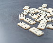 Multiple domino bones composition Stock Photos