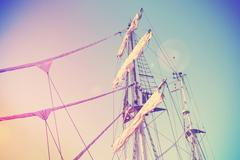 Vintage retro filtered picture of a mast. Stock Photos