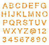 ABC alphabet made of blot spots Stock Photos