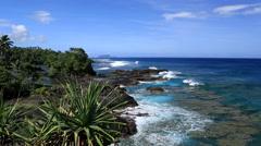 Western Samoa Coastline Stock Footage