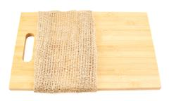 Wooden cutting board isolated Stock Photos