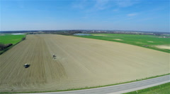High above with huge land cultivated 4K - stock footage