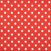 Red fabric with the white polka dots Stock Photos