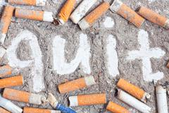Antismoking background - stock photo