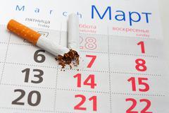 Anti-smoking background - stock photo