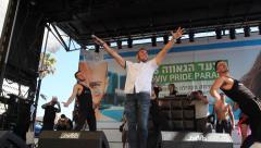 Nadav Guedj performs 'Golden Boy', Eurovision Song Contest 2015  Stock Footage