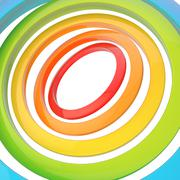 Stock Illustration of Multiple rings background composition