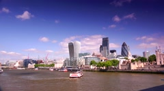 ULTRA HD 4K real time shot,The City of London Financial District Stock Footage