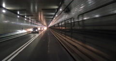 Going through the Lincoln Tunnel towards New Jersey Stock Footage