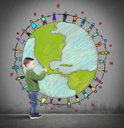 Solidarity world of a child Stock Illustration