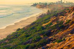 California Ocean Vista. Encinitas Beach, United States. - stock photo