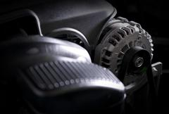 Car Alternator Closeup Photo. - stock photo