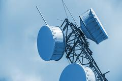 Cellular Antenna Closeup. Cellular Tower. - stock photo