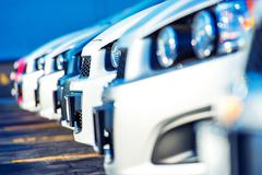 Dealer Cars For Sale. Car Selling Market. Cars Marketplace - stock photo