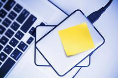 External Hard Drives Backup For Laptop. - stock photo