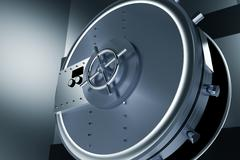 Huge Safe Bank Vault Stock Illustration