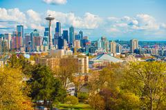 Seattle Washington Skyline. Kuvituskuvat