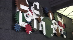 Turning Gear Sign In Shibuya Tokyo Stock Footage