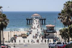 Manhattan Beach Pier, Southern California - stock photo