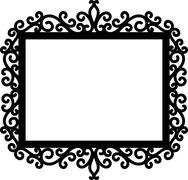 decorative frame silhouette - stock illustration