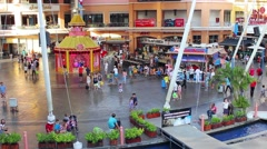 Jungceylon Shopping center in resort town of Patong Stock Footage
