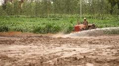 People working in Fields Stock Footage