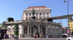 4K footage of the Albertina Gallery in Vienna, Austria Stock Footage