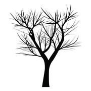 Tree with dead branch - stock illustration