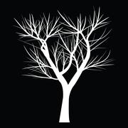 Tree with dead branch Stock Illustration
