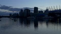 Vancouver - False Creek - Twilight - 25P - ProRes 4:2:2 10 Bit - UHD 4K Stock Footage