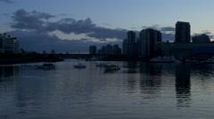 Vancouver - False Creek - Twilight - 30P - ProRes 4:2:2 10 Bit - UHD 4K Stock Footage