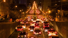 Timelapse View of Long Traffic Jam, Rush Hour Stock Footage