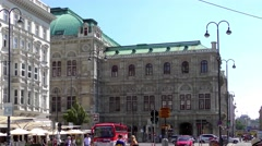 4K footage of the Vienna State Opera in Vienna, Austria Stock Footage