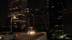 Downtown Los Angeles Over Pas with Bus Stock Footage