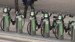 Bike Share Toronto Kiosk, Toronto, Canada  Stock Footage