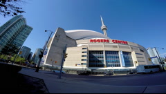 Toronto Rogers Centre Street View Stock Footage