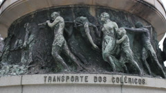 Rio de Janeiro, Brazil. Monument to the Heroes of Laguna and Dourados, Statue Stock Footage