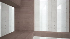 Abstract interior of a concrete walls Stock Footage