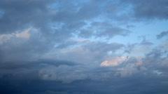 Bluish Darkening Clouds Stock Footage
