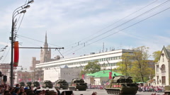 Moscow, Russia, victory day military parade 2015 - stock footage
