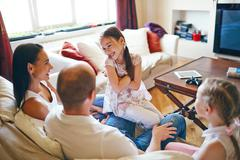Weekend at home - stock photo