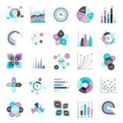 Business Charts Set Stock Illustration