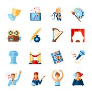 Art And Culture Icons Set - stock illustration