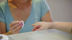 Stock Video Footage of Cleaning fingernails with soft pads 4K