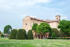 Certosa of Ferrara, the ancient graveyard of the city - stock photo