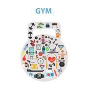 Stock Illustration of Gym Concept Flat
