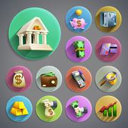 Banking icons set Stock Illustration