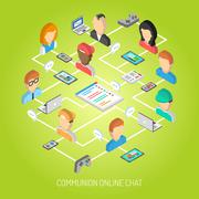 Internet Chat Concept Stock Illustration