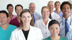 Group Portrait Of Medical Staff Stock Footage