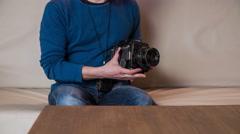 Stock Video Footage of Put down the camera and run retro lightmeter 4K